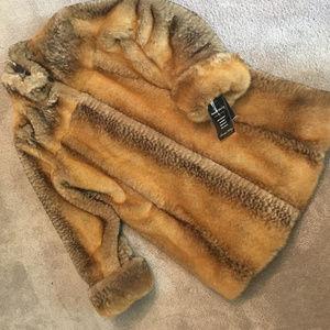 Pamela McCoy Faux FOX Fur Coat